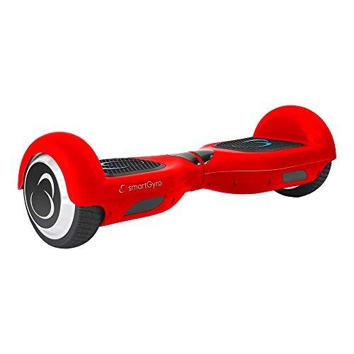 SmartGyro X2 UL Red – Patinete Eléctrico Hoverboard,  Ruedas de 6,5″ antipinchazos, Potente batería de litio, BLUETOOTH, Altavoz, Vel. máxima 12 Km/h, Autonomía de 20 Km, Certificado UL,  Color Rojo